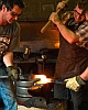 Fire Welding at Noble Forge Blacksmith Shop